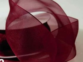 27 Meter Chiffon Band bordeaux