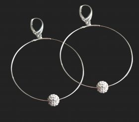 Sterling Silber Ohrringe CREO mit Kristall Ball