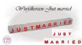 just married Würfelkerzen