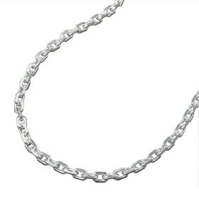 edle diamantierte Ankerkette Sterling Silber