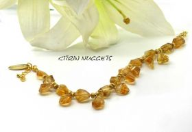 Design Armband Citrin Nuggets
