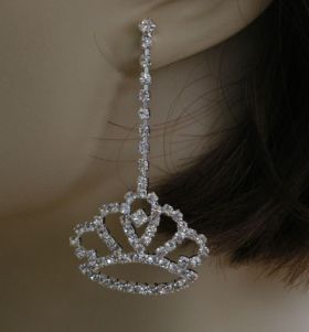 Strass Ohrhänger crown 2 Modelle