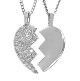 Partnerschmuck Broken Heart edel