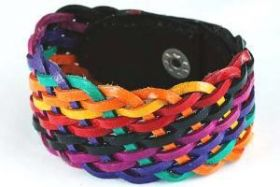 Lederarmband COLOR