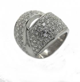 Schmuck Design Ring Rhodiniert